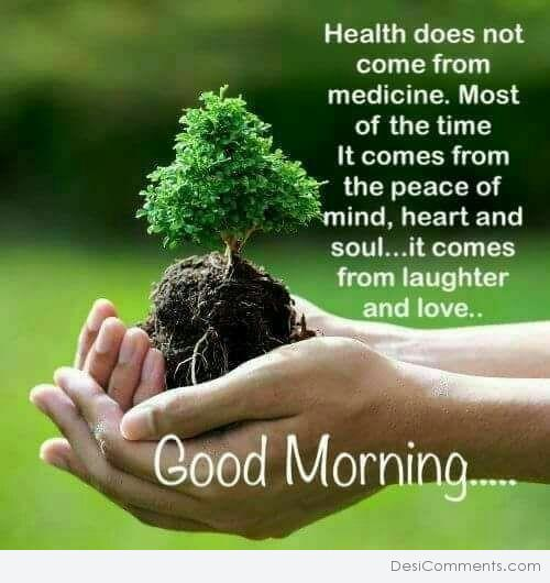 Health Comes From Peace - Good Morning