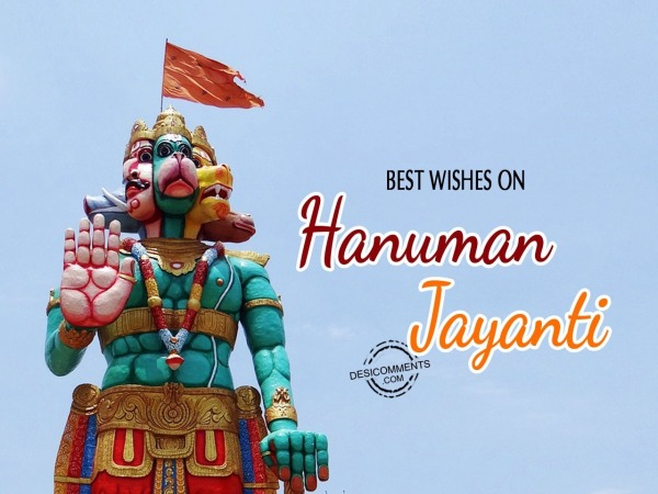 Best wishes on Hanuman Jayanti