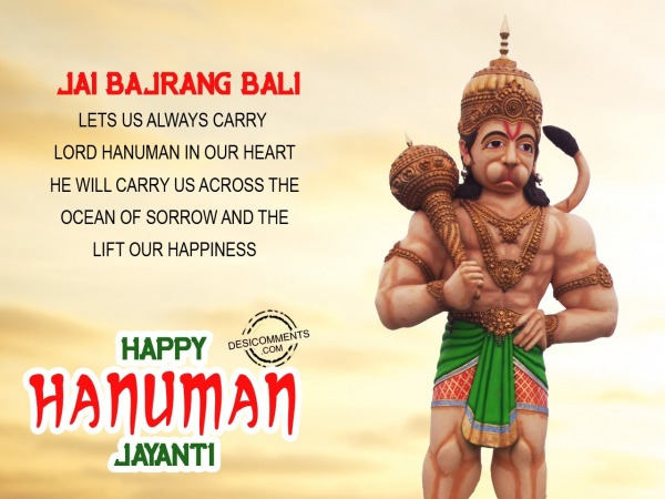 Picture: Lord hanuman in our heart
