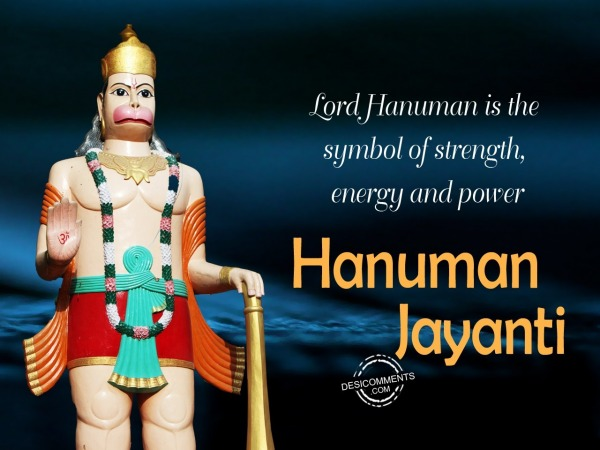 Lord hanuman is the symbol of strength