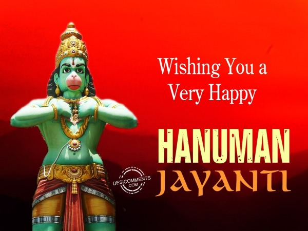 Wishing you a very Happy Hanuman Jayanti