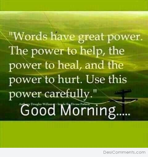 Words Have Great Power