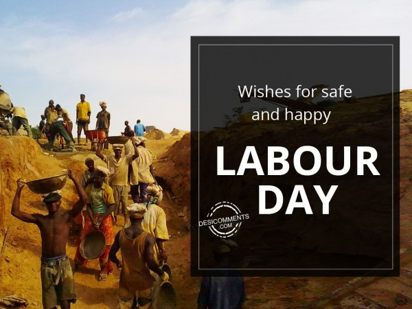 Picture: Wishes for happy and safe labour day