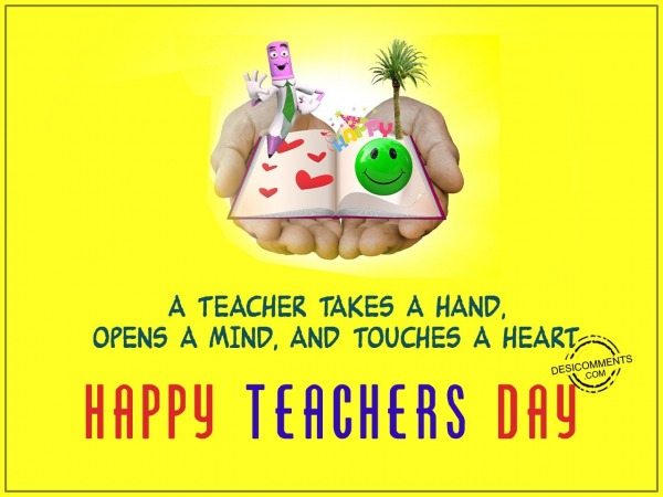 Picture: A teacher takes a hand, Happy Teachers Day