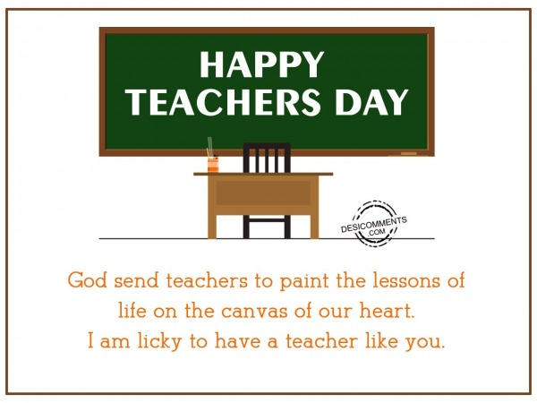 Picture: God send teachers to paint the lessons of life