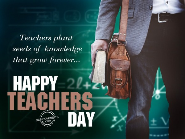 Picture: Teachers plant seeds of knowledge, Happy Teachers Day