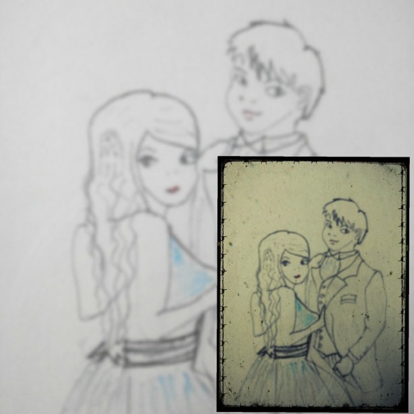 Pencil Sketch Of Boy And Girl
