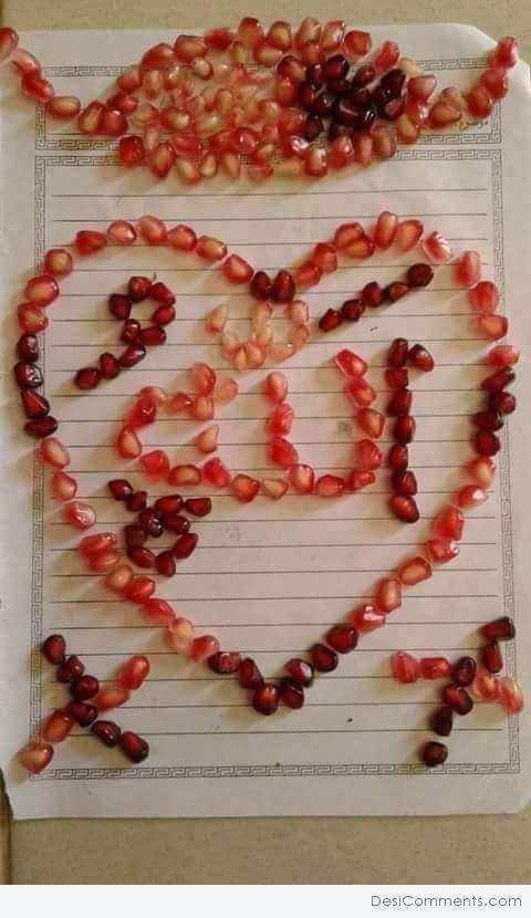 Heart Made With Pomegranate