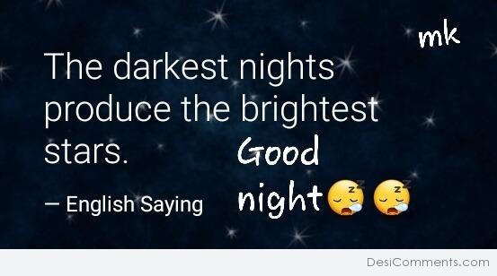 The Darkest Night - Good night