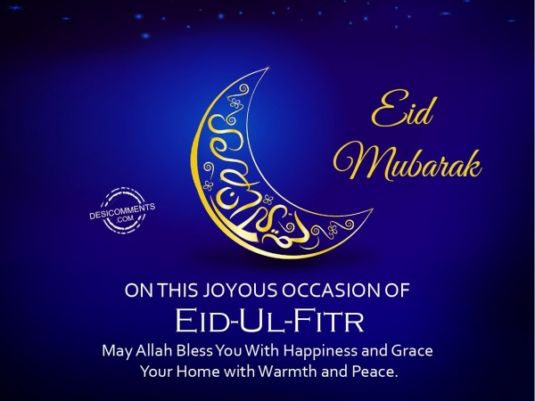 On This Joyous Occasion Of Eid Ul Fitr