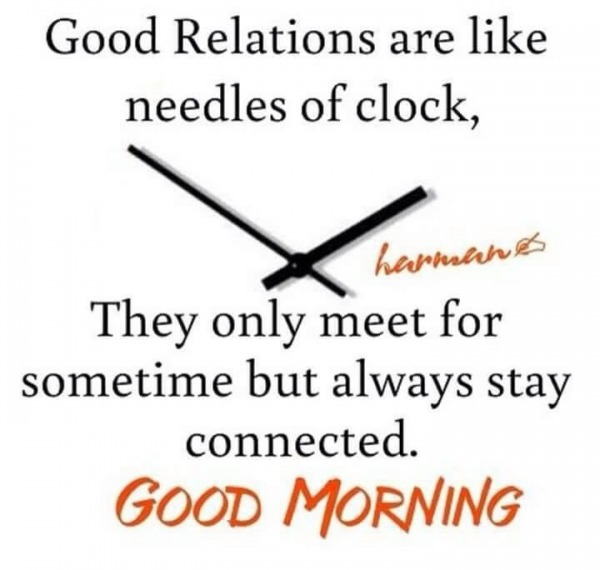Good Relations – Good Morning