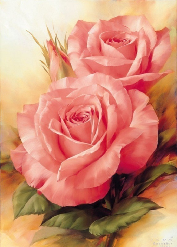 Picture: Beautiful Paining Of Roses