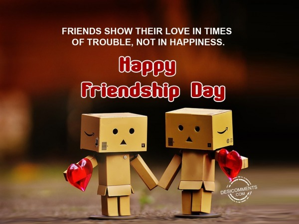 Freinds show their love in trouble, Happy Friendship day