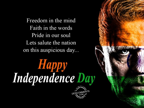 Freedom in the mind, Happy Independence Day