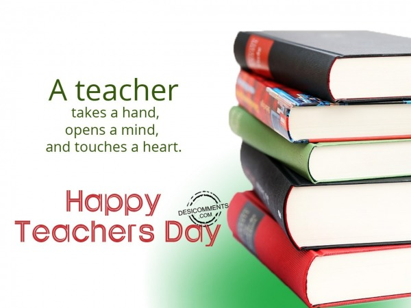 Picture: A takes a hand, Happy Teachers Day