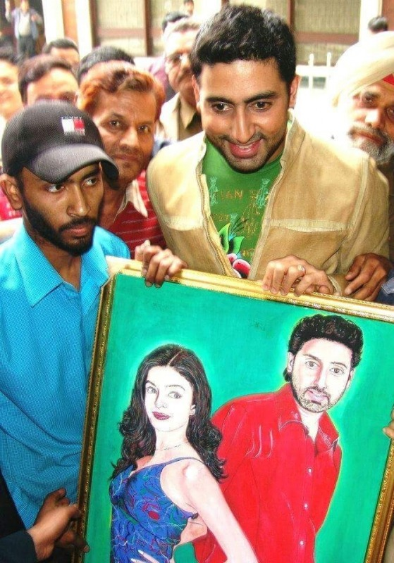 Painting of Abhishek Bachchan And Aishwarya Rai