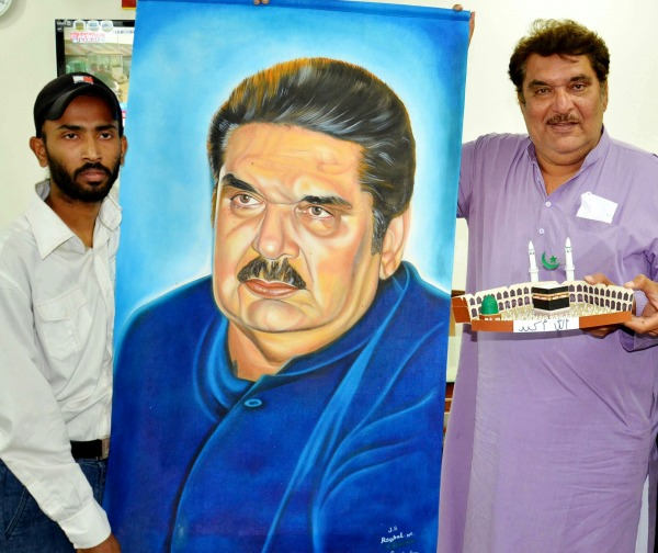 Painting of Bollywood Actor Raza Murad