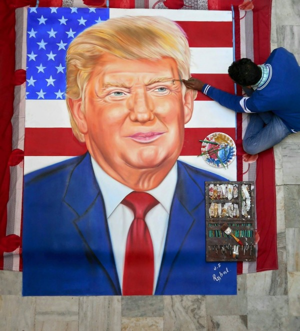 Picture: Painting of US President Donald Trump