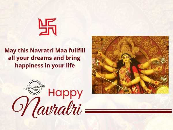 May this Navratri fullfill your dream