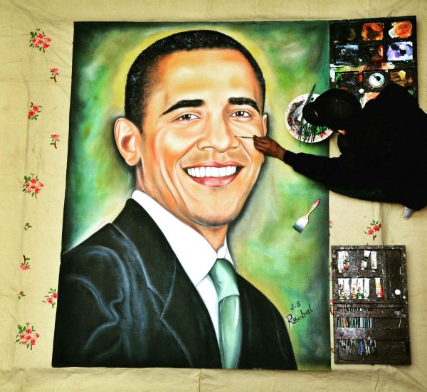 Painting of former US President Barack Obama