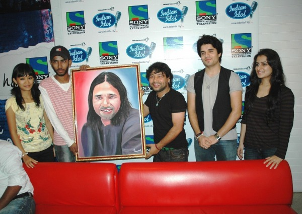 Painting of Bollywood Singer Kailash Kher