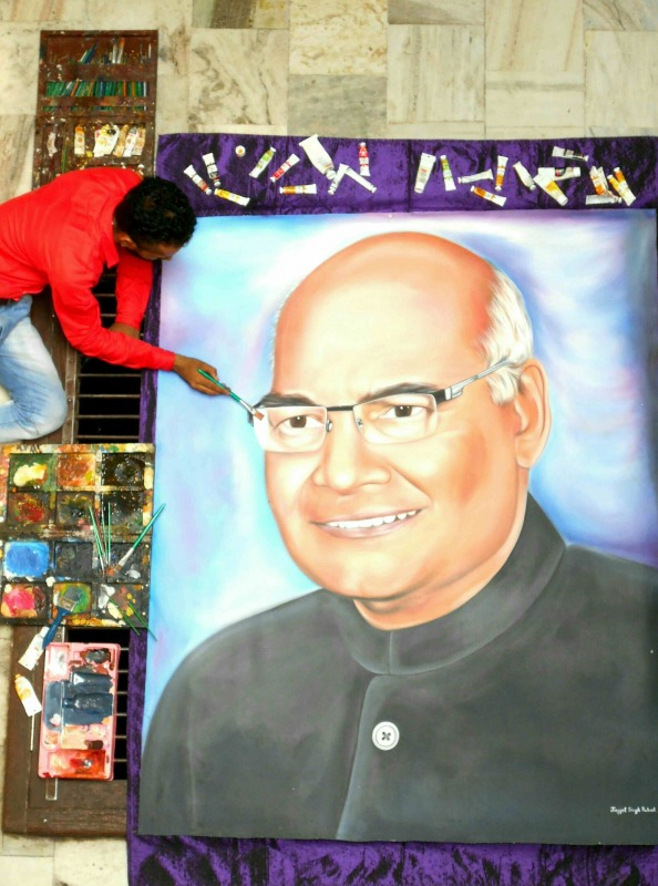 Painting of Indian President Ram Nath Kovind