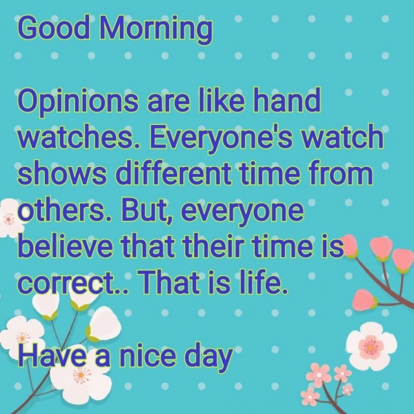 Opinions Are Like Hand Watches