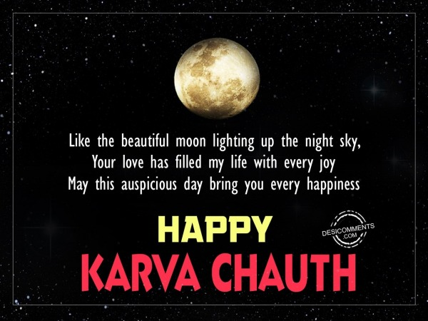 Picture: Like the beautiful moon, Happy Karva Chauth