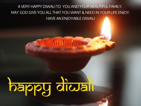 Picture: A Very Happy Diwali To You And Your Beautiful Family