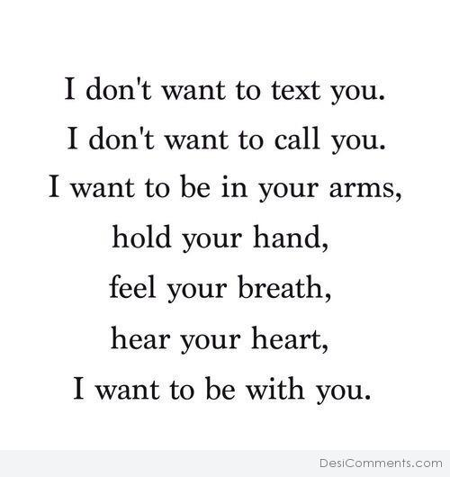 Picture: I Don't Want To Text You