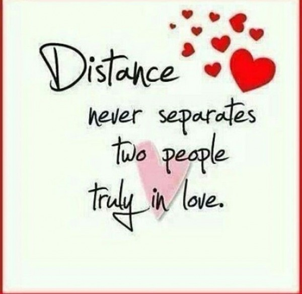 Distance Never Separates
