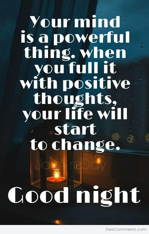 Good Night – Positive Thoughts