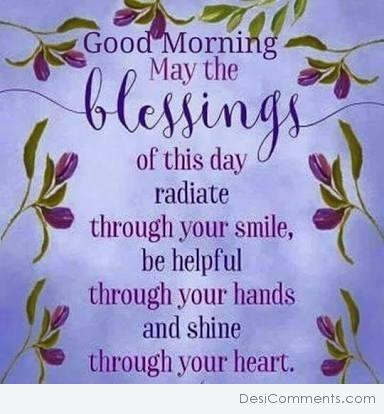 Good Morning Blessings Of This Day Desicommentscom