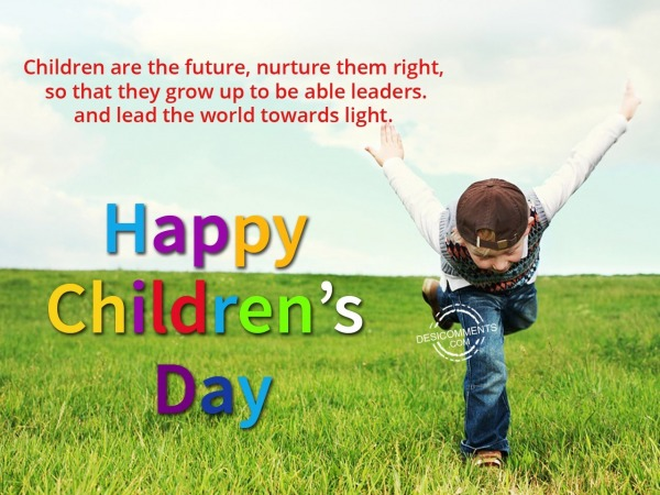 Picture: Children are the future, Happy Children's Day