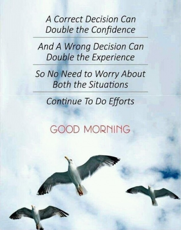 Continue To Do Efforts – Good Morning
