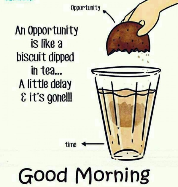 An Opportunity Is Like A Biscuit – Good Morning