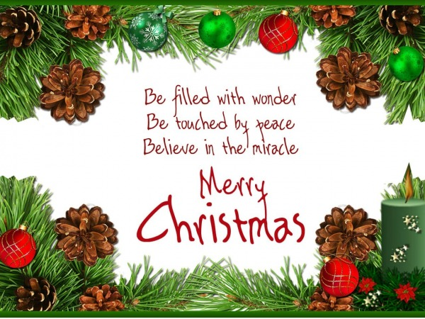 Be filled with wonder, Merry Christmas