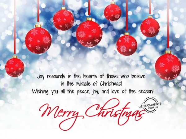 Joy resounds in the heart of those, Merry Christmas