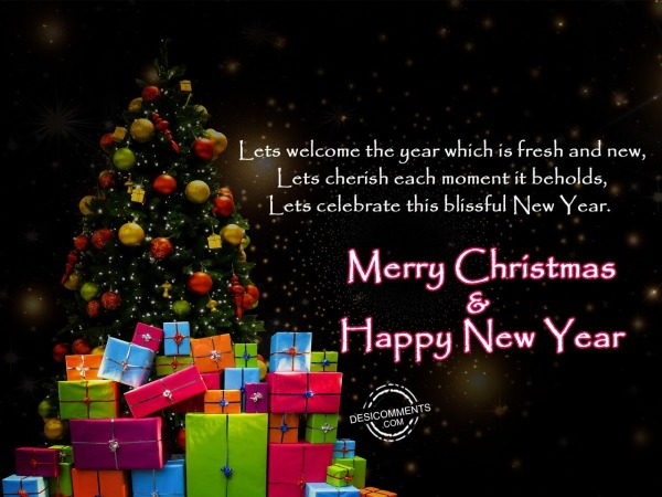 Lets welcome the year, Merry Christmas