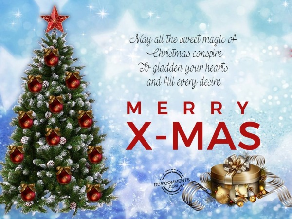 May all the sweet magic of christmas, Merry Christmas