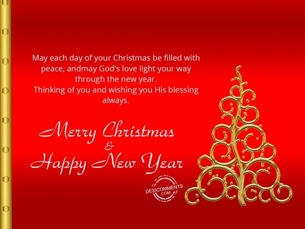 Picture: May each day of your christmas be filled with peace, Merry Christmas