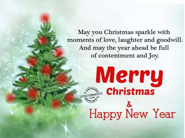 Picture: May you christmas sparkle with love, Merry Christmas