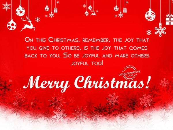 Picture: on this christmas remember, Merry Christmas