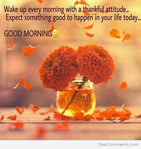 Wake Up Every Morning With A Thankful Attitude - Good Morning