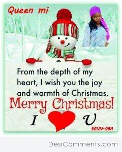 From The Depth Of My Heart Merry Christmas