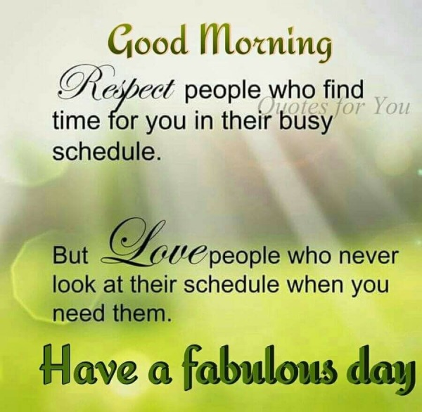 Good Morning - Respect People