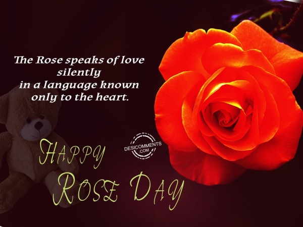 The rose speaks of love, Happy Rose Day