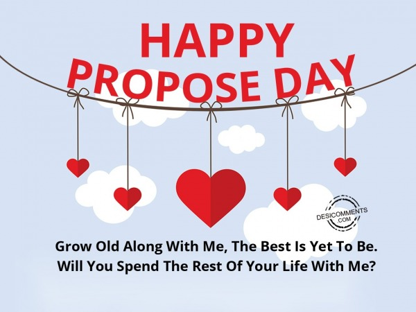Grow Along With Me, Happy Propose Day