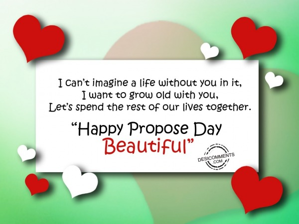 I can't imagine a life, Happy Propose Day