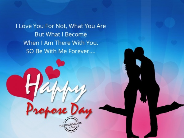 I love you for not, Happy Propose Day